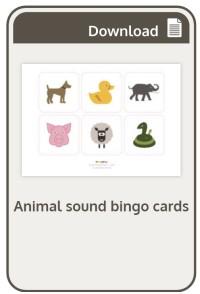 Animal Sound Bingo Cards from Phonicsplay