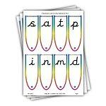 cursive letter fans
