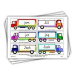 phase 3 words on trucks