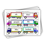 Phase 5 tricky words on trucks